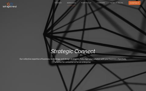 Screenshot of Services Page leftrightmind.com - Mobile App Strategy | Mobile First Strategy | Business Consulting - captured Sept. 28, 2018