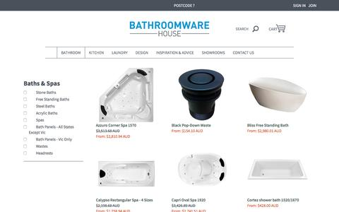 Bath Tubs, Baths, Spa Baths and Bathtubs | Bathroomware House