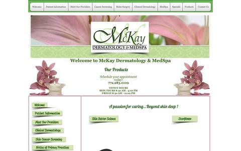 Screenshot of Products Page mckayderm.com - SkinPen Microneedling - captured Oct. 17, 2018