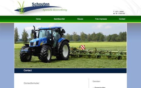 Screenshot of Contact Page schoutenadv.nl - Schouten Agrarische dienstverlening    |    Contact - captured Feb. 4, 2016