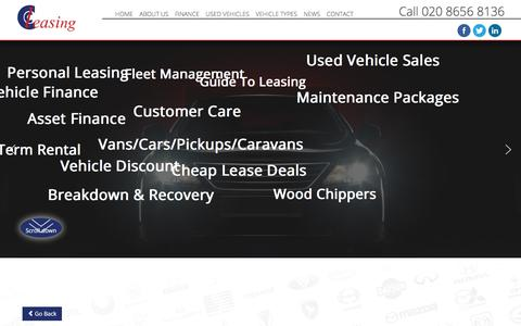 Screenshot of Site Map Page ccleasing.co.uk - CC Leasing, finance for cars, vans and other vehicles - Sitemap - captured July 14, 2018