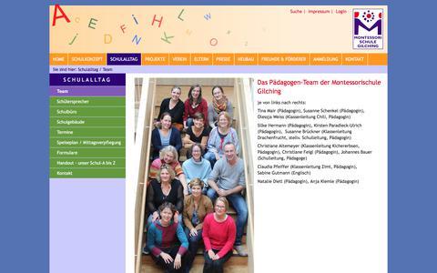Screenshot of Team Page montessorischule-gilching.de - Montessori Schule Gilching im Münchner Westen: Team - captured June 10, 2018