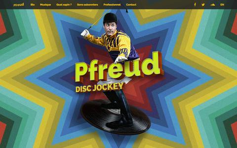 Screenshot of Home Page djpfreud.com - DJ Pfreud – Disc Jockey Extraordinaire - captured Feb. 10, 2016