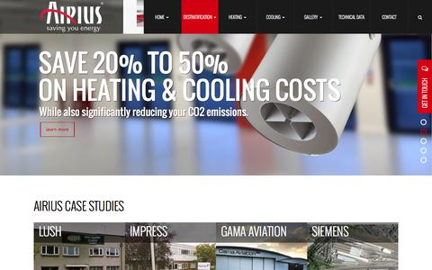 Screenshot of Case Studies Page airius.co.uk - Case Studies of Our Successful Projects - captured Nov. 20, 2016