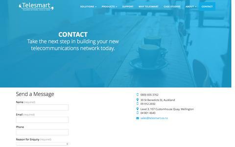 Screenshot of Contact Page telesmart.co.nz - Contact - Telesmart - captured Jan. 23, 2016