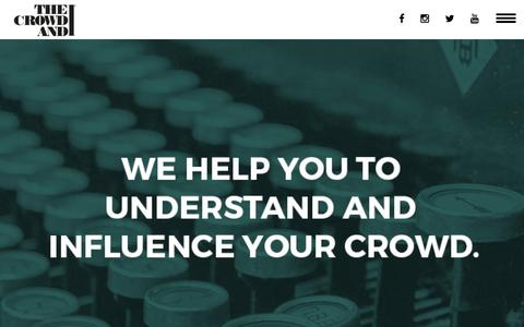 Screenshot of Services Page thecrowdandi.com - WHAT WE DO : The Crowd &I - captured Feb. 16, 2016