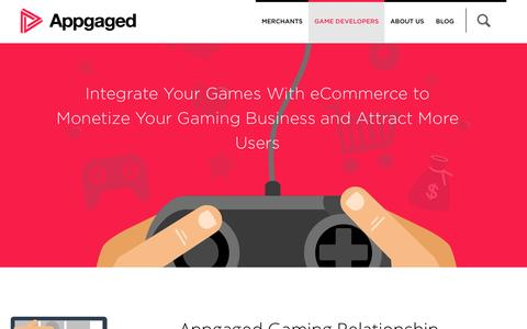 Screenshot of Developers Page appgaged.com - GAME DEVELOPERS — Appgaged - captured Oct. 29, 2014