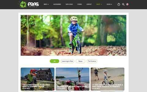 Screenshot of Blog frogbikes.com - Frog Bikes Blog - captured Aug. 30, 2018