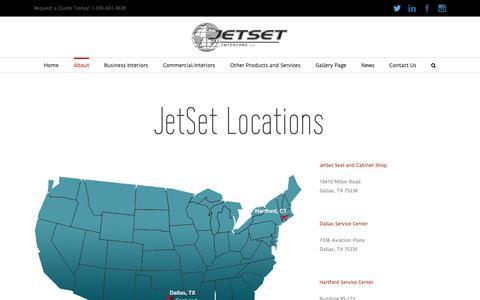 Screenshot of Locations Page jsiglobal.com - Locations   JetSet Interiors - captured Oct. 13, 2018