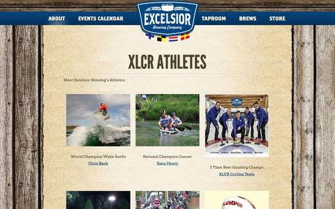Screenshot of Team Page excelsiorbrew.com - XLCR ATHLETES - Excelsior Brewing Company - captured Sept. 30, 2018