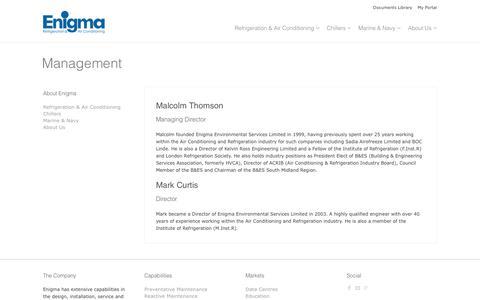 Screenshot of Team Page enigmaesl.com - Management Team | Enigma ESL - captured Jan. 29, 2016