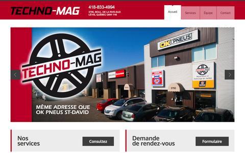 Screenshot of Home Page techno-mag.com - Techno-mag - captured Oct. 4, 2014