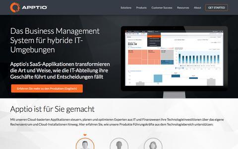 Das Business Management System für hybride IT-Umgebungen | Apptio