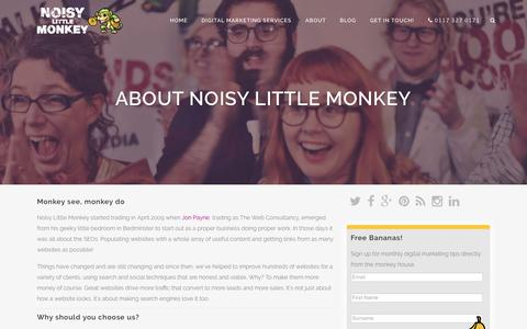 About Noisy Little Monkey, Based in Bristol