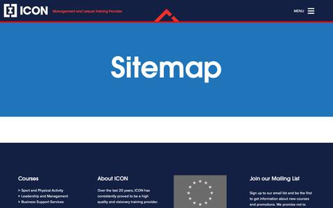 Screenshot of Site Map Page icon-training.com - Sitemap • Icon Training - captured Nov. 6, 2018
