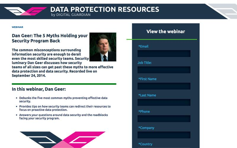 Dan Geer: The 5 Myths Holding your Security Program Back | Data Security Best Practices for Effective Data Protection