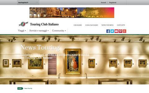 Screenshot of Press Page touringclub.it - News   Touring Club - captured Nov. 2, 2014