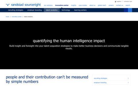 Recruitment & Talent Management Analytics | Randstad Sourceright