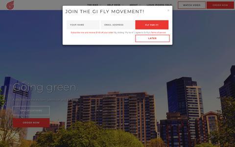 Screenshot of Home Page giflybike.com - Gi Fly Bike - captured Nov. 13, 2018