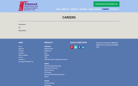 Screenshot of Jobs Page enhanced.com.ph - Careers | Enhanced Electronics and Communication Services, Inc. - captured Nov. 7, 2016