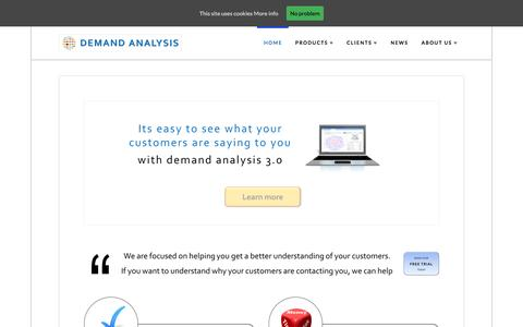 Screenshot of Home Page demand-analysis.com - Home - Demand Analysis Limited - captured Nov. 24, 2016