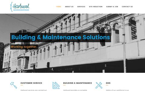 Screenshot of Home Page harbusol.com - Home - Harbusol: Commercial Building & Maintenance Services - captured Oct. 26, 2016