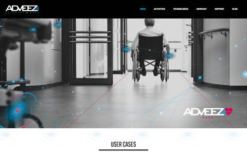 Screenshot of Home Page adveez.com - Adveez - Advanced & Easy - Improve management of assets and users - captured Nov. 16, 2019