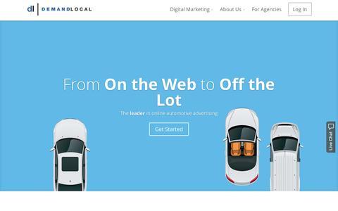Screenshot of Home Page demandlocal.com - Demand Local - Automotive Digital Marketing - captured Sept. 12, 2015