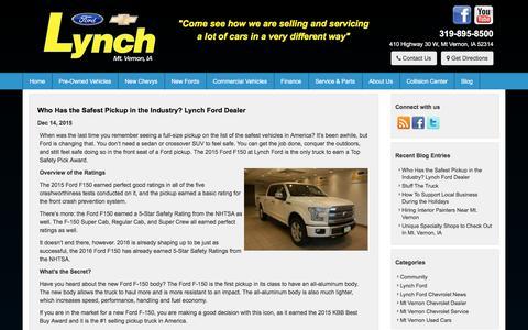 Screenshot of Blog lynchfordchevrolet.com - Lynch Ford Chevrolet Blog   Just another WordPress site - captured Dec. 15, 2015