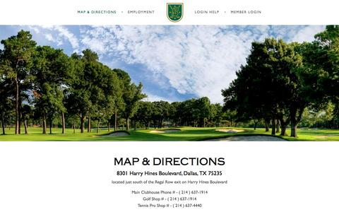 Screenshot of Contact Page Maps & Directions Page brookhollowgc.org - Map & Directions - Brook Hollow Golf Club - captured Jan. 10, 2017