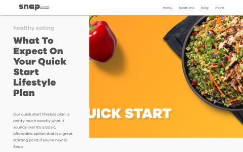 Screenshot of Blog snapkitchen.com - Snap Kitchen – The one stop healthy meal shop - captured June 14, 2019