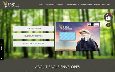 Screenshot of Home Page eagle-envelopes.com - Eagle Envelopes - captured June 26, 2016