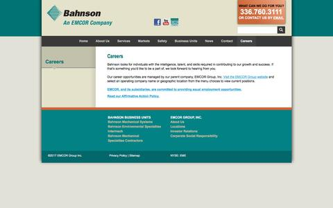 Screenshot of Jobs Page bahnson.com - Careers :: Bahnson - captured Dec. 23, 2017