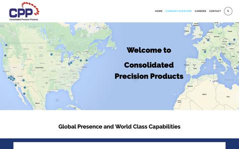 Screenshot of Locations Page cppcorp.com - LOCATIONS - Consolidated Precision Products - captured Dec. 15, 2018
