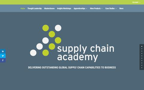 Screenshot of Home Page supplychainacademy.org.uk - Supply Chain Academy | Masterclasses for Supply Chain Management. London - captured Nov. 17, 2017