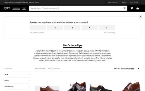 Shop Men's Lace Ups