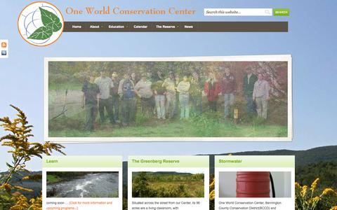 Screenshot of Home Page oneworldconservationcenter.org - One World Conservation Center — - captured Oct. 6, 2014