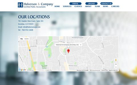 Screenshot of Maps & Directions Page halversoncpa.com - Halverson & Company, Certified Public Accountants | MAP - captured Sept. 26, 2018