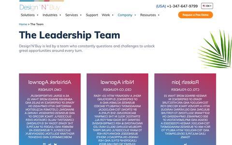 Screenshot of Team Page designnbuy.com - The Team | Design 'N' Buy - captured June 22, 2019