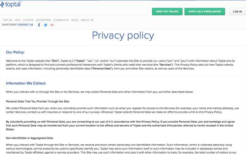 Privacy Policy | Toptal