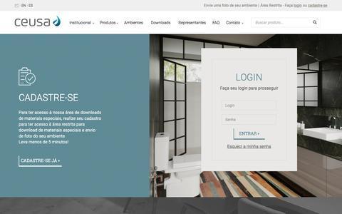 Screenshot of Login Page ceusa.com.br - Ceusa Revestimentos Ceramicos |   Minha Conta - captured Sept. 25, 2018