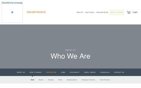 Screenshot of Team Page globalgiving.org - Staff - GlobalGiving - captured Oct. 25, 2017