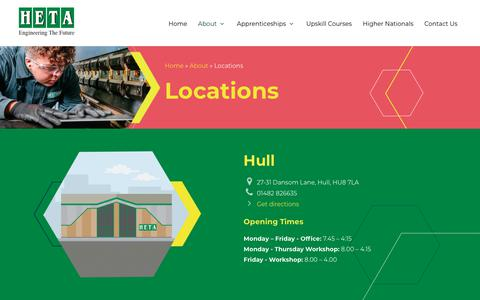 Screenshot of Locations Page heta.co.uk - Our Locations - Find Your Nearest Training Centre | Heta - captured Sept. 24, 2018