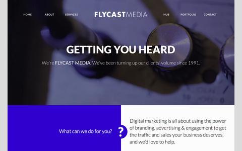 Screenshot of Home Page flycastmedia.co.uk - Web Design North London, Web Design Watford - captured Sept. 22, 2018