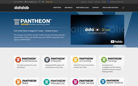 Screenshot of Home Page datalab.eu - ERP Software – PANTHEON Business Software - captured Jan. 6, 2018