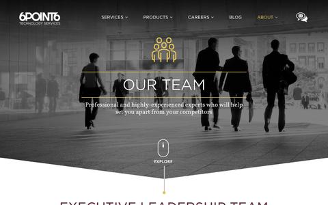 Screenshot of Team Page 6point6.co.uk - Team - captured Sept. 21, 2018