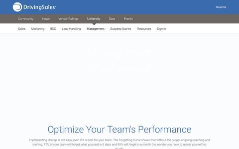 Screenshot of Team Page drivingsales.com - Digital Marketing Training for Dealers - DrivingSales University - captured May 20, 2016