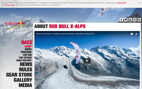 Screenshot of About Page redbullxalps.com - About - Red Bull X-Alps - captured Sept. 25, 2018