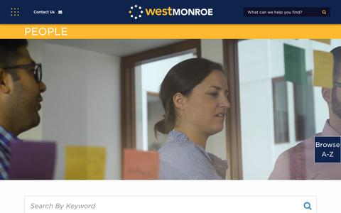 Screenshot of Team Page westmonroepartners.com - Our People | West Monroe Partners - captured Jan. 18, 2018