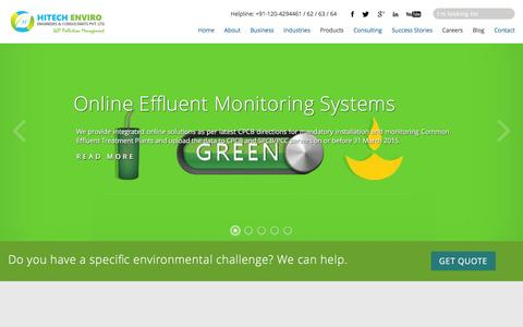 Screenshot of Home Page heecpl.com - Hitech Enviro Engineers - captured Jan. 24, 2016